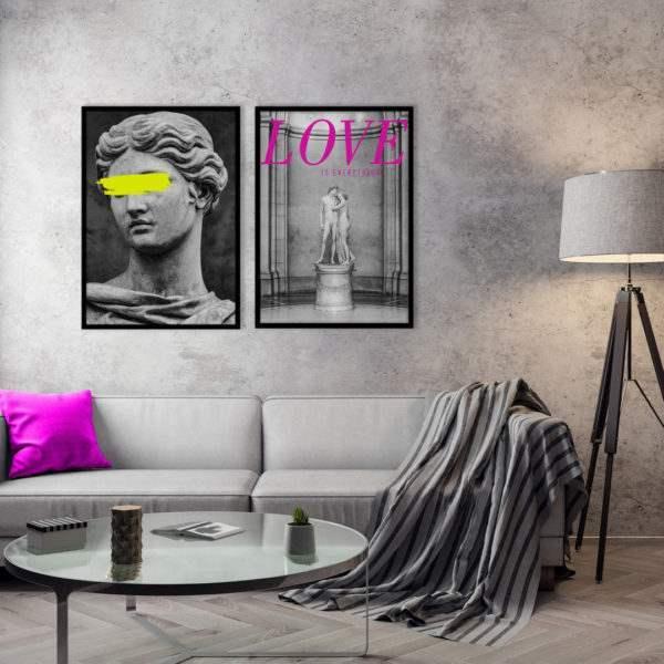 Rahmenbild Everything im Wohnzimmer