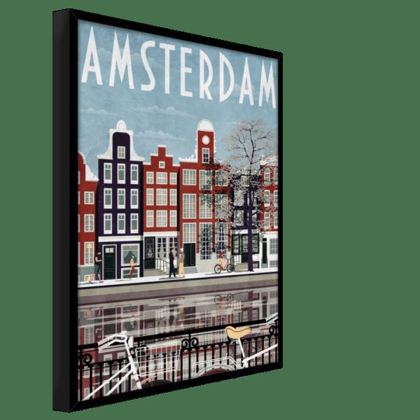 Rahmenbild Amsterdam Ansicht schräg
