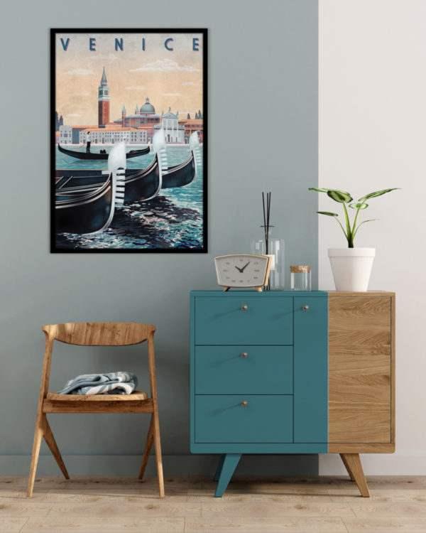 Rahmenbild Venice im Wohnzimmer