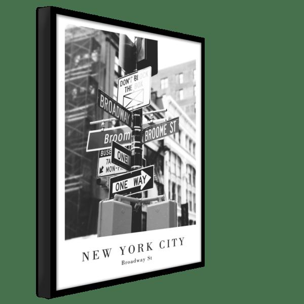 Rahmenbild Broadway Street Ansicht schräg