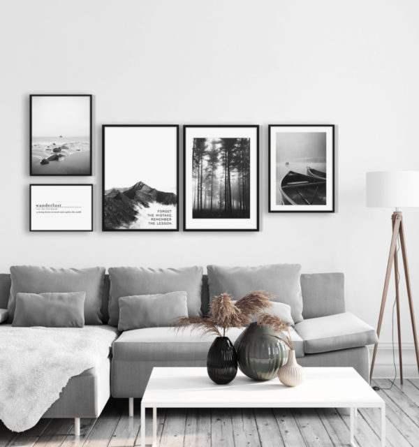 Rahmenbild Stones im Wohnzimmer