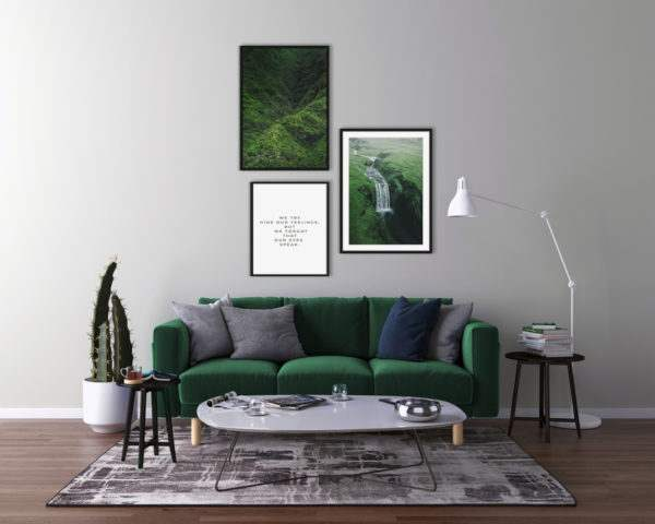 Rahmenbild Fall im Wohnzimmer