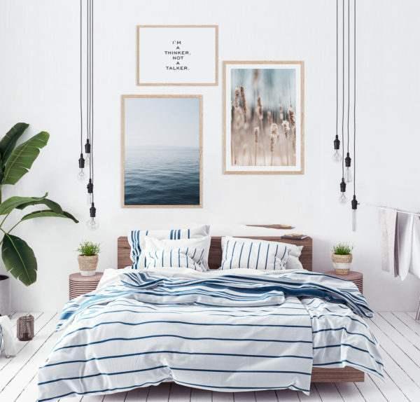 Rahmenbild Grass im Schlafzimmer