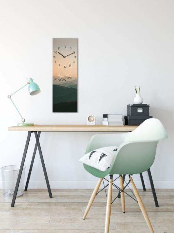 Glasuhr Mountains im Arbeitszimmer
