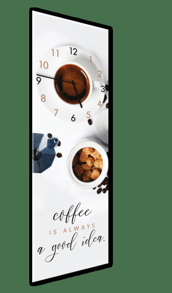 Glasuhr White Coffee Ansicht schräg