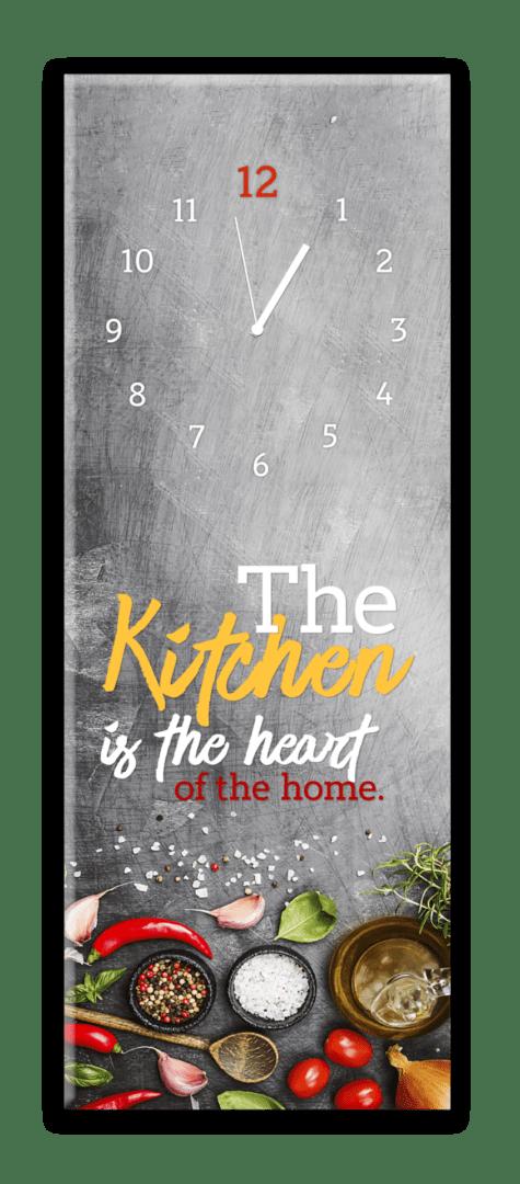 Glasuhr Kitchen Heart