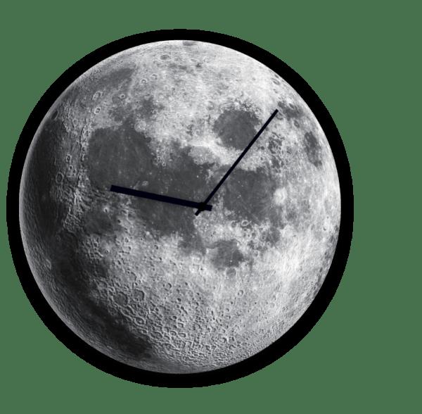 Glasuhr Moon Ansicht schräg