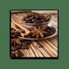 Glasbild Kaffeebohnen