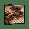 Glasbild Kaffeebohnen Ansicht schräg