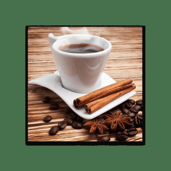 Glasbild Kaffee Set