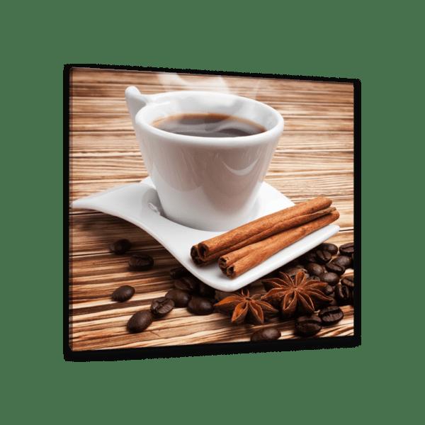 Glasbild Kaffee Set Ansicht schräg