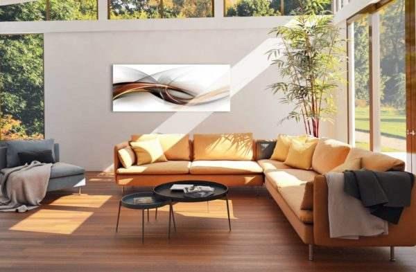 Glasbild Abstrakt im Wohnzimmer