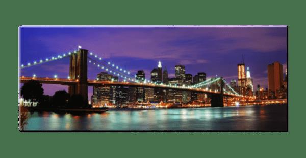 Glasbild Skyline – Panorama