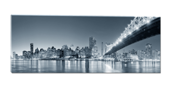 Glasbild City Nightlights – Panorama