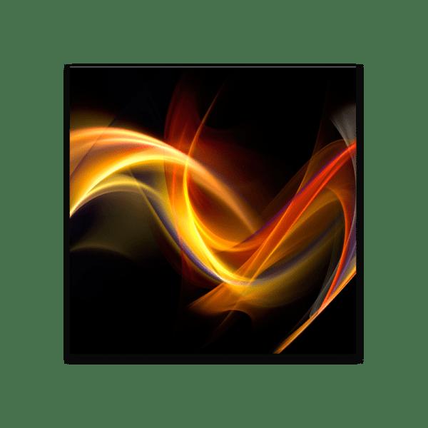 Glasbild Black Abstract
