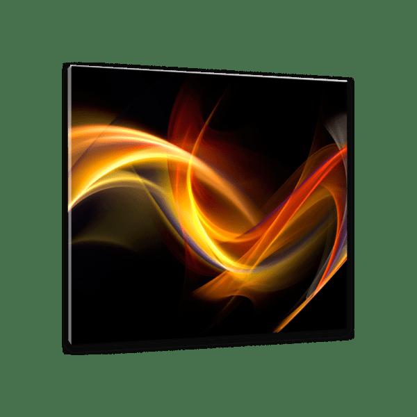 Glasbild Black Abstract Ansicht schräg