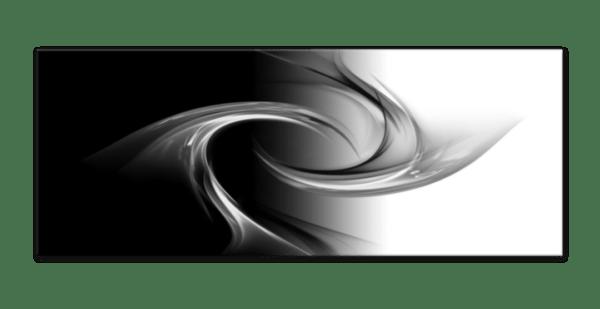 Glasbild Black & White