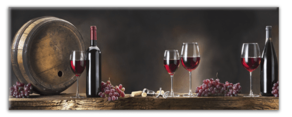 Glasbild Wine Glasses