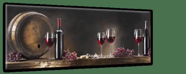 Glasbild Wine Glasses Ansicht schräg