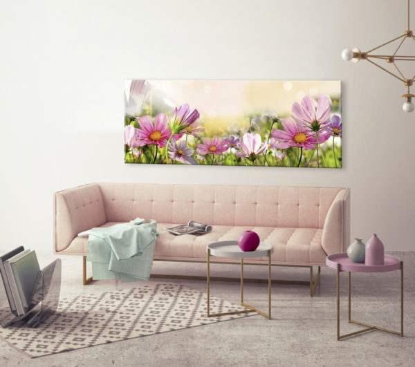 Glasbild Sommertraum im Wohnzimmer