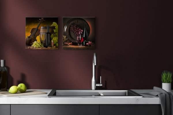 Glasbild Violin Vine in der Küche