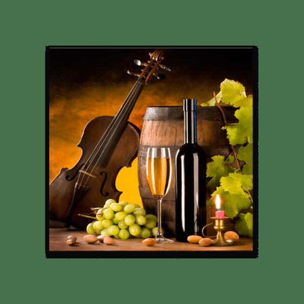 Glasbild Violin Vine