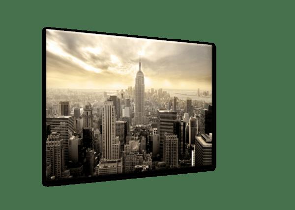 Glasbild New York Manhattan Ansicht schräg