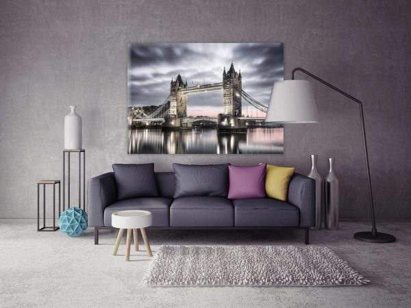 Glasbild Tower Bridge London im Wohnzimmer