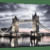 Glasbild Tower Bridge London Ansicht schräg