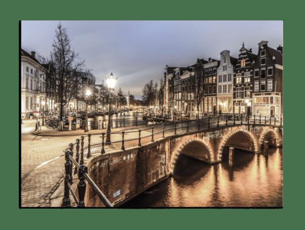 Glasbild Amsterdam
