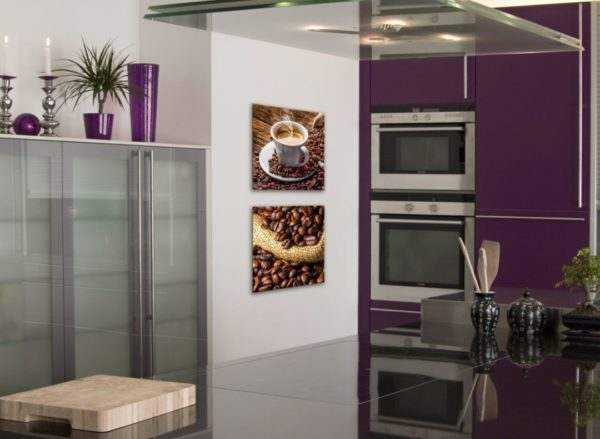 Glasbild Cup of Coffee in der Küche