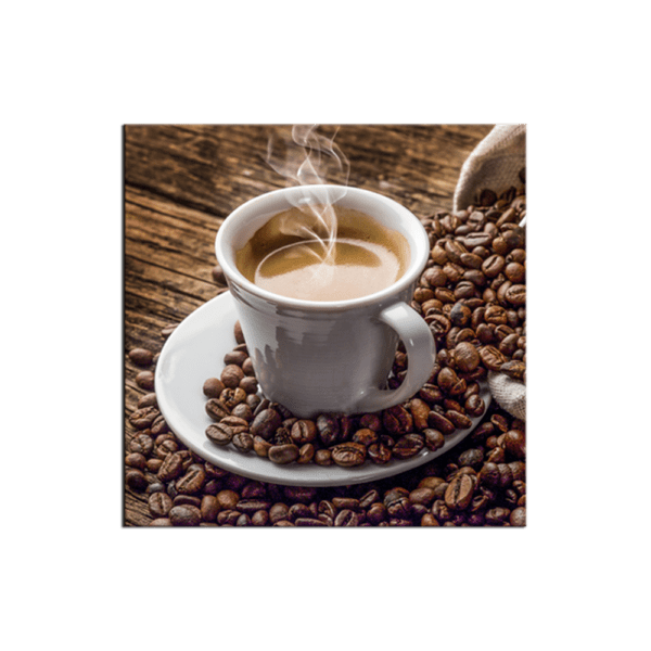 Glasbild Cup of Coffee