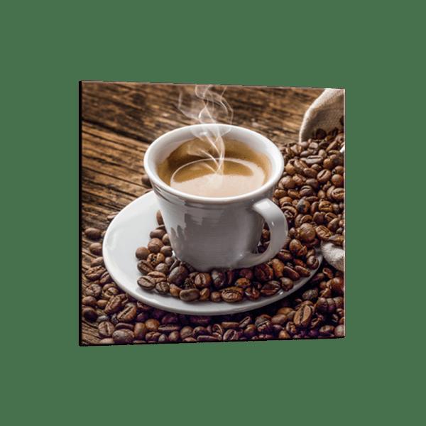 Glasbild Cup of Coffee Ansicht schräg