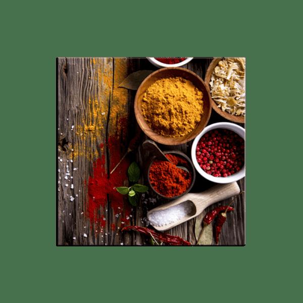 Glasbild Curry