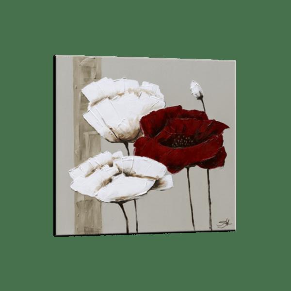 Glasbild Red & White Ansicht schräg
