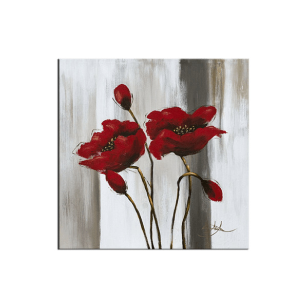 Glasbild Poppies