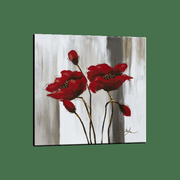 Glasbild Poppies Ansicht schräg