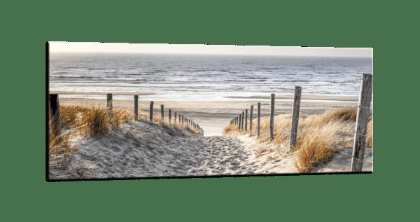 Glasbild Dünen am Meer
