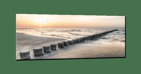Glasbild Steg ins Meer
