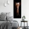 Glasbild Elefant im Wohnzimmer
