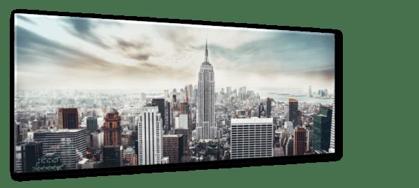 Glasbild Manhattan Ansicht schräg