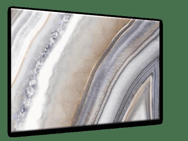 Glasbild Grey Agate Ansicht schräg