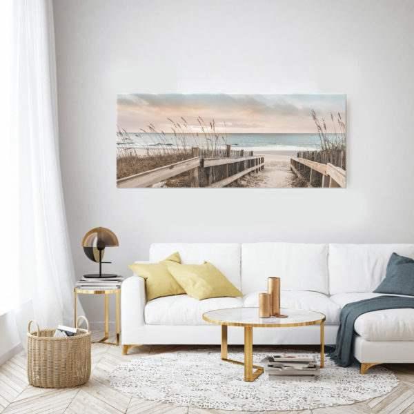 Glasbild Dreams im Wohnzimmer