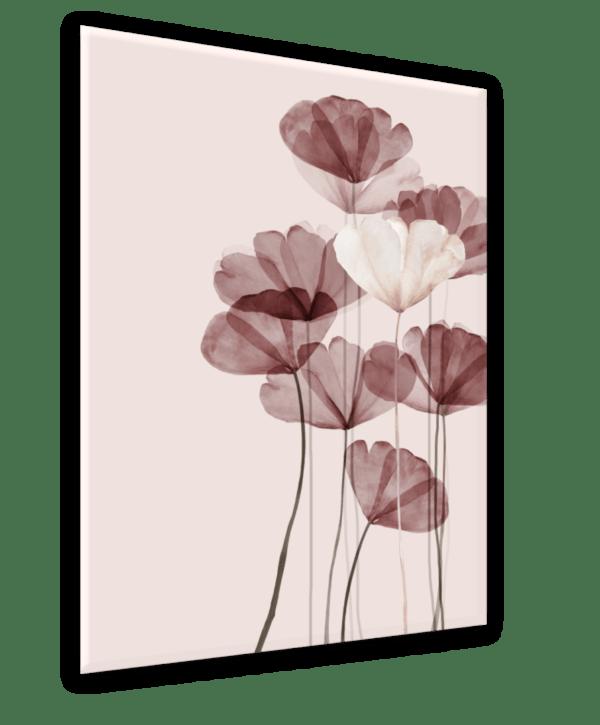 Glasbild Pink Glam Ansicht schräg