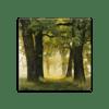 Glasbild Trees