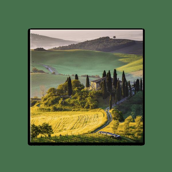 Glasbild Toskana