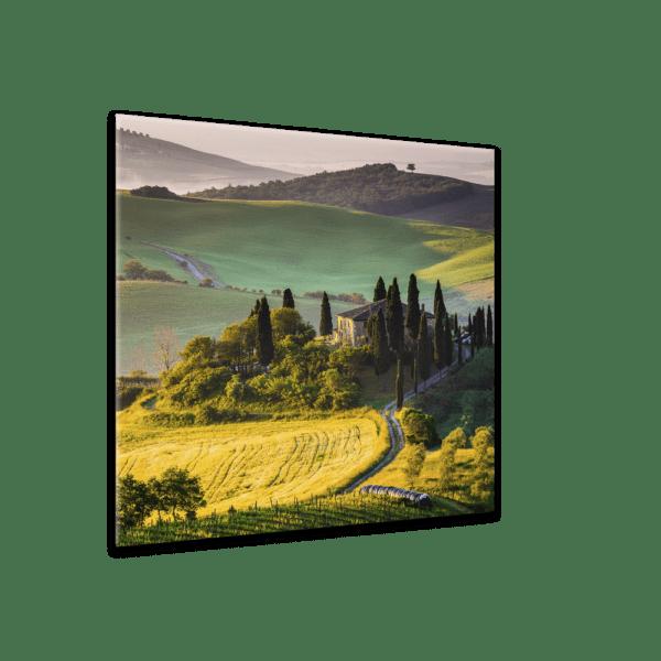 Glasbild Toskana Ansicht schräg
