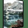 Glasbild Tiroler Seenlandschaft Ansicht schräg