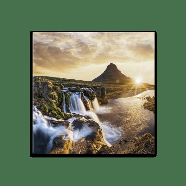 Glasbild Die Schönheit Islands