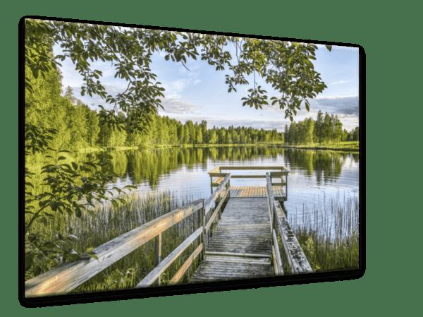 Glasbild Wooden Jetty Ansicht schräg
